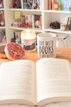 The truth is simple—life is just better with books. (And also donuts, coffee, and a nice-scented candle.) Find a cute companion for your next read with these bookish mugs from Bookworm Boutique on Redbubble.