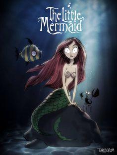 Así serían los carteles de las películas de Disney si los dibujara Tim Burton - Imagen 7