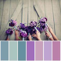 purples, blues