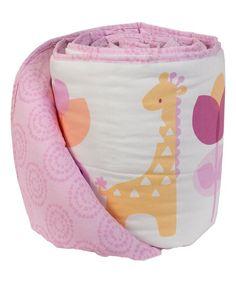 Living Textiles Pink Surina Reversible Bumper | zulily