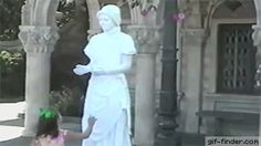That statue looks so lifelike | Gif Finder – Find and Share funny animated gifs