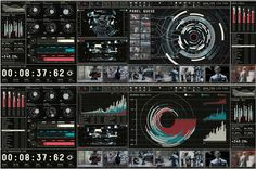 Robocop interfaces from John Koltai, Toros Kose, Ash Thorp, and Perception..