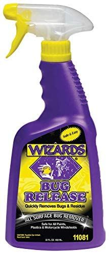 Wizards Bug Release All Surface Bug Wash And Bug Remover For All Vehicles 22 Oz Motorcycle Cleaner Windshield Cleaner Car Wax