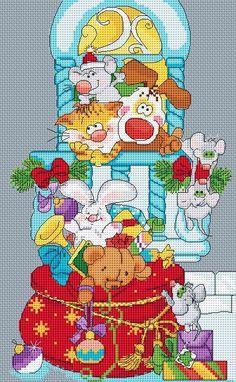 (1) Gallery.ru / Дед Мороз со Снегурочкой - Новогоднее (по рисункам М.Федотовой) - tamriko-lamara
