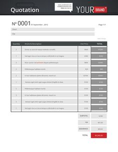 A huge set of Printable Business Templates including: Invoice ...