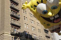SpongeBob SquarePants at the 85th Annual Macy's Thanksgiving Parade, NYC.