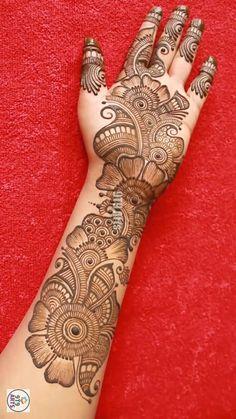 Henna Tattoo Designs Simple, Latest Bridal Mehndi Designs, Full Hand Mehndi Designs, Stylish Mehndi Designs, Mehndi Designs 2018, Henna Art Designs, Mehndi Designs For Beginners, Mehndi Designs For Girls, Mehndi Design Photos