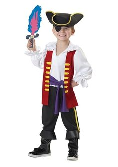 Captain Feathersword Boys Pirate Costume - The Costume Land
