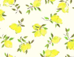 "Kate Spade's pretty ""painterly lemon"" print"
