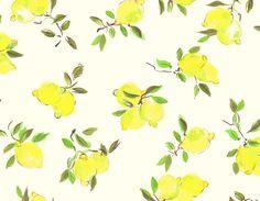 """Kate Spade's pretty """"painterly lemon"""" print"""