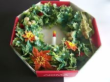VINTAGE NOMA LIGHTED CHRISTMAS WREATH electric window CANDLE FLAME BULB IN BOX Christmas Wreaths With Lights, Vintage Christmas Lights, Christmas Candles, Electric Window Candles, Bulb, Onions, Christmas Lights, Light Bulb, Light Globes