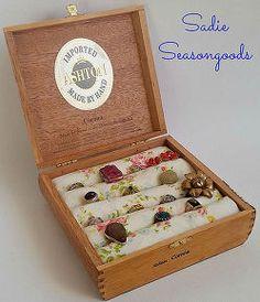 repurposed cigar box to ring holder, crafts, organizing, repurposing upcycling