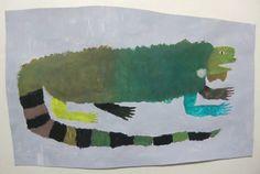 Katagiri Daichi #iguana #illustration #art #lizard #naive