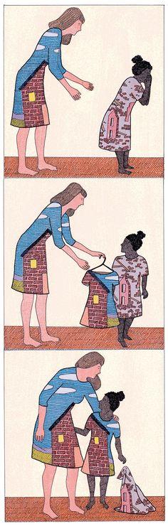 Dans libération à propos de l'adoption et du livre L'enfant du séisme. - .