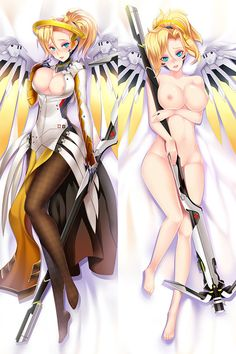 Overwatch Mercy Dakimakura Hugging Pillow Cover