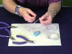 How to set a pendant with wire wrapping - Jewellery Making Tutorial jewelry-tutorials beauty beauty