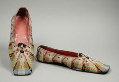 Man's Slippers 1840-1846 The Los Angeles County Museum of... - OMG that dress!