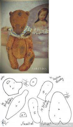 Состаренный мишка от Кристины Шаблий / Мишки / Бэйбики. Куклы фото. Одежда для кукол