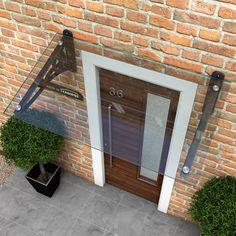 glass door canopy scroll design type j