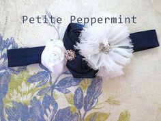 Baby headband baby girl headband newborn by PetitePeppermint, $5.95