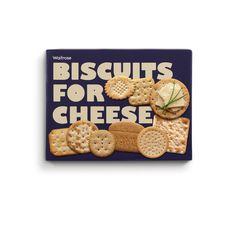 Waitrose biscuits packaging. Designed by Turner Duckworth.