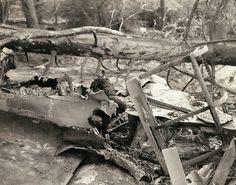 Des restes carbonisés d'un pilote allemand, l'avion a été abattu par des armes légères le 15 mars, premier jour de l'offensive de la 7e armée en Allemagne | General Charles Day Palmer's Recently Discovered Pictures Show The Horrors Of The Nazi Retreat | The Huffington Post
