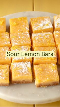 Lemon Desserts, Fun Desserts, Delicious Desserts, Dessert Recipes, Yummy Food, Fun Baking Recipes, Cooking Recipes, Tastemade Recipes, Food Videos