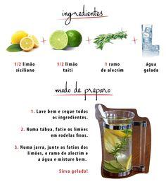 agua aromatizada receitas - Pesquisa Google