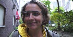 Daphne Channa Horn, een van de eerste drie Google Glass bezitters van Nederland.