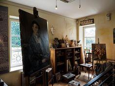 mai 2017 | visite de l'expo de tableaux de  Madeleine Fié-Fieux et Emile Simon  - au manoir de Squividan à Clohars-Fouesnant  © Paul Kerrien http://toilapol.net Finistère Bretagne