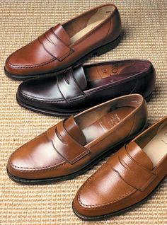 The Harvard Loafer in Whiskey Cordovan, third from top to bottom