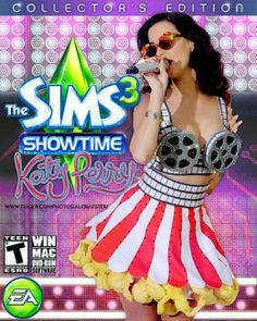 """""""The Sims 3 Showtime"""" - Katy Perry Edition Best Sims, Sims 1, Sims 3 Expansions, Ever After High Games, Hay Day, Sims Games, Katy Perry, Cute Outfits, Video Games"""