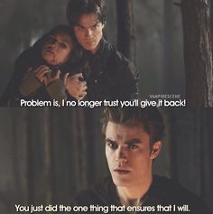 BS, Damon would never do anything that could actually hurt Elena. Even when he was still in love with Kit Kat, he would always worry about Elena..