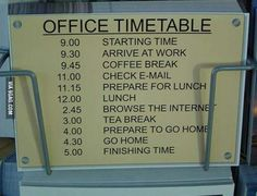 My sort of timetable - 9GAG