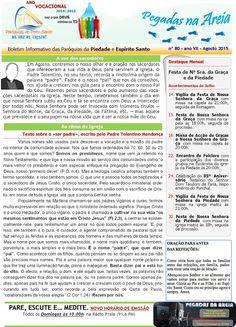 PARÓQUIAS DO PORTO SANTO: Boletim do mês de Agosto