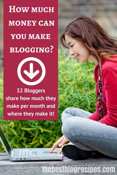 How Much Money Do Bloggers REALLY Make Per Month? 32 Bloggers share WHERE and HOW they make their money!   Featured on The Best Blog Recipes