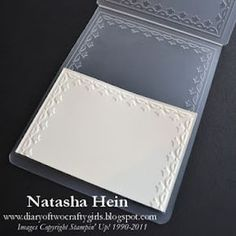 Tutorial on how to get a smaller piece of cardstock to have a border using embossing folders!