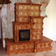 Decor, Wood, Wood Fired Oven, Stove, Ceramics, Hearth, Home Decor, Fireplace