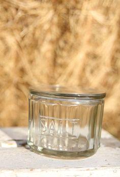PRESSED GLASS SALT CELLAR - Junk GYpSy co.