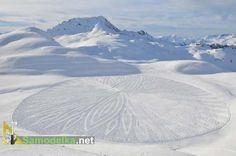результат - картина на снегу стоит всех усилий