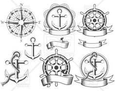 Free Nautical Clip Art Borders | Nautical emblems, download royalty-free vector clipart (EPS)