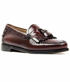 ESTHER BASS WEEJUNS RETRO LOAFERS WINE