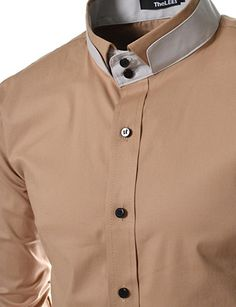 TheLees DCH Mens unique double collar shirts Lightbeige US XS(Tag size M) is part of Mens shirt dress - Formal Shirts For Men, Cotton Shirts For Men, Double Collar Shirt, Collar Shirts, Indian Men Fashion, Mens Fashion, Mens Shirt Pattern, Gents Kurta Design, African Dresses Men