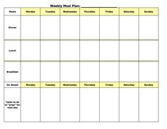Blank Meal Plan Template Nwmxopu  Meals    Cook