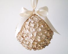 Storybook Pomander  Ivory Wedding Ball Made by smilemercantile