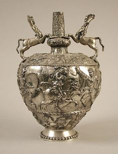 Vase, Date: 19th century Culture: Byzantine Medium: Silver plate.