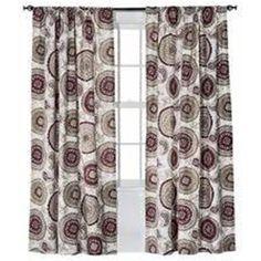 SET 4 Threshold Target Red Farrah Medallion Curtain Panels X Maroon Tan In  Home U0026 Garden, Window Treatments U0026 Hardware, Curtains, Drapes U0026 Valances