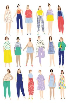 Amelia Flower Illustration and Design. Art And Illustration, People Illustration, Character Illustration, Drawing People, Illustrators, Art Drawings, Artsy, Sketches, Prints