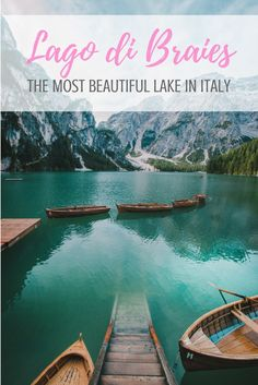 Pragser Wildsee or Lago di Braies - however you call it, Lake Braies is the most stunning lake in Italy. Read how to get there & get around.