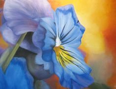 Pansy Flower Oil Painting by RebeccaLenzPainting on Etsy